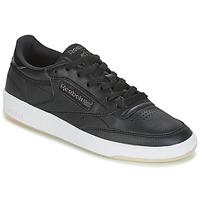 Shoes Női Rövid szárú edzőcipők Reebok Classic CLUB C 85 LTHR Fekete