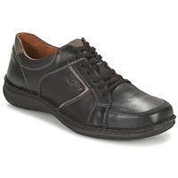 Cipők Férfi Oxford cipők Josef Seibel ANVERS 49 Fekete