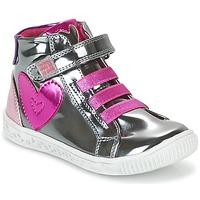 Cipők Lány Magas szárú edzőcipők Agatha Ruiz de la Prada FLOW Ezüst