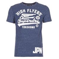 Ruhák Férfi Rövid ujjú pólók Superdry HIGH FLYERS REWORKED Tengerész