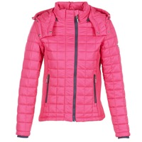 Ruhák Női Steppelt kabátok Superdry FUJI BOX QUILTED Rózsaszín