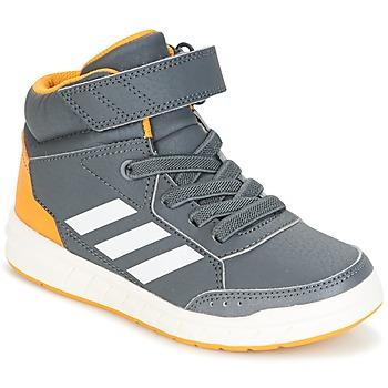 Cipők Fiú Magas szárú edzőcipők adidas Performance ALTASPORT MID EL K Szürke
