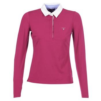Ruhák Női Hosszú ujjú galléros pólók Gant SOLID JERSEY LS RUGGER Rózsaszín