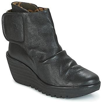 Cipők Női Bokacsizmák Fly London YOMI Fekete
