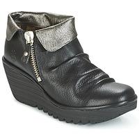 Cipők Női Csizmák Fly London YOXI Fekete  / Ezüst