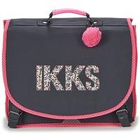 Bags Lány Iskolatáskák Ikks ROCK CARTABLE 41CM Fekete  / Rózsaszín