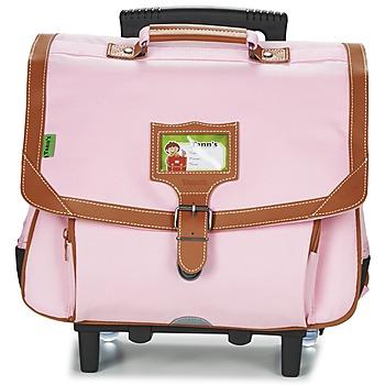 Táskák Lány Táskák / Gurulós táskák Tann's LES INCONTOURNABLES TROLLEY CARTABLE 38CM Rózsaszín / Tender