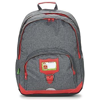 Táskák Gyerek Hátitáskák Tann's CLASSIC SAC A DOS L Szürke / Piros