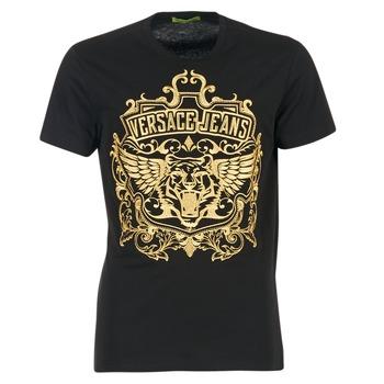Ruhák Férfi Rövid ujjú pólók Versace Jeans B3GQB7T2 Fekete  / Arany