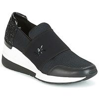 Cipők Női Rövid szárú edzőcipők MICHAEL Michael Kors FELIX TRAINER Fekete