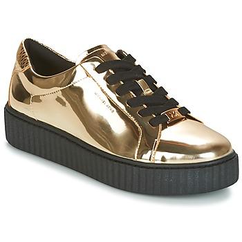 Cipők Női Rövid szárú edzőcipők MICHAEL Michael Kors TRAVOR LACE UP Arany