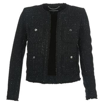 Ruhák Női Kabátok / Blézerek MICHAEL Michael Kors FRAY TWD 4PKT JKT Fekete  / Ezüst