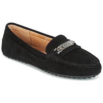 Cipők Női Mokkaszínek Ralph Lauren BERDINE Fekete