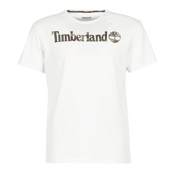 Ruhák Férfi Rövid ujjú pólók Timberland DUNSTAN RIVER CAMO PRINT Fehér