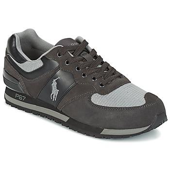 Cipők Férfi Rövid szárú edzőcipők Ralph Lauren SLATON PONY Fekete  / Szürke