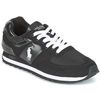 Cipők Férfi Rövid szárú edzőcipők Ralph Lauren SLATON PONY Fekete