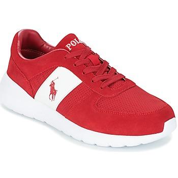 Cipők Férfi Rövid szárú edzőcipők Polo Ralph Lauren CORDELL Piros