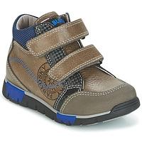 Shoes Fiú Magas szárú edzőcipők Pablosky DENTELY Szürke / Kék