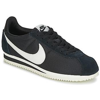 Cipők Női Rövid szárú edzőcipők Nike CLASSIC CORTEZ NYLON W Fekete  / Fehér
