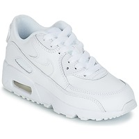 Cipők Gyerek Rövid szárú edzőcipők Nike AIR MAX 90 LEATHER PRE-SCHOOL Fehér