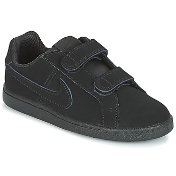 Cipők Fiú Rövid szárú edzőcipők Nike COURT ROYALE PRE-SCHOOL Fekete