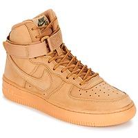 Cipők Gyerek Magas szárú edzőcipők Nike AIR FORCE 1 HIGH WB GRADE SCHOOL Méz