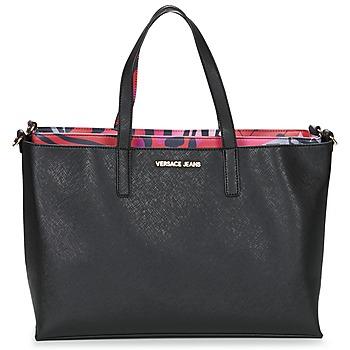 Táskák Női Bevásárló szatyrok / Bevásárló táskák Versace Jeans ANTALOS Fekete  / Piros / Sokszínű