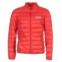 Ruhák Férfi Steppelt kabátok Emporio Armani EA7 TRAIN CORE ID DOWN LIGHT JKT Piros