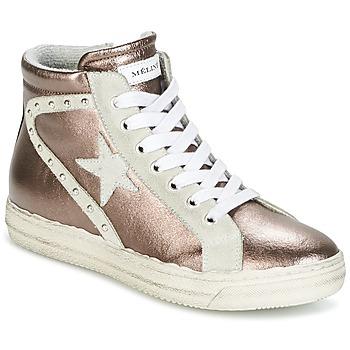 Cipők Női Magas szárú edzőcipők Meline POLARE Bronz