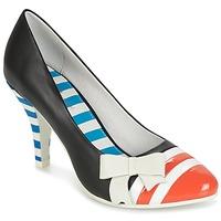Cipők Női Félcipők Lola Ramona STILETTO Fekete  / Narancssárga / Fehér
