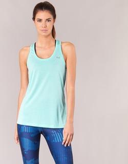 Ruhák Női Trikók / Ujjatlan pólók Under Armour TECH TANK - SOLID Zöld