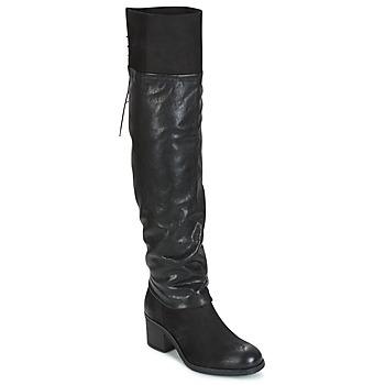 Cipők Női Combcsizmák Mjus SHAGGY Fekete