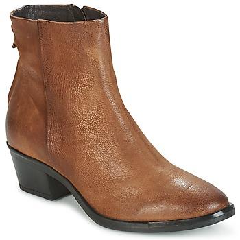 Cipők Női Csizmák Mjus FRESNO ZIP Barna