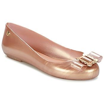 Cipők Női Balerina cipők / babák Melissa VW SPACE LOVE 18 ROSE GOLD BUCKLE Rózsaszín / Arany