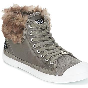 Cipők Női Magas szárú edzőcipők Le Temps des Cerises BASIC 03 Szürke