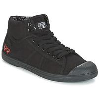 Cipők Női Magas szárú edzőcipők Le Temps des Cerises BASIC 03 Fekete