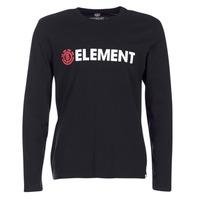 Ruhák Férfi Hosszú ujjú pólók Element BLAZIN LS Fekete