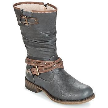 Cipők Női Városi csizmák Mustang ISALBA Szürke