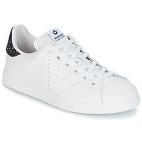 Cipők Női Rövid szárú edzőcipők Victoria DEPORTIVO BASKET PIEL Fehér / Kék
