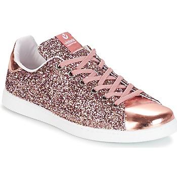 Cipők Női Rövid szárú edzőcipők Victoria DEPORTIVO BASKET GLITTER Rózsaszín
