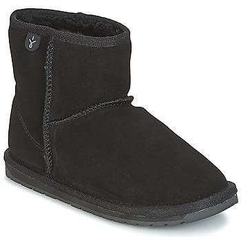 Cipők Lány Csizmák EMU WALLABY MINI Fekete