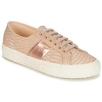 Cipők Női Rövid szárú edzőcipők Superga 2750 PU SNAKE W Bőrszínű