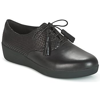 Cipők Női Oxford cipők FitFlop CLASSIC TASSEL SUPEROXFORD Fekete  / Kígyó