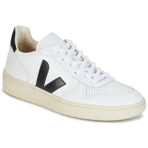 Cipők Rövid szárú edzőcipők Veja V-10 Fehér / Fekete