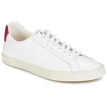 Cipők Női Rövid szárú edzőcipők Veja ESPLAR LT Fehér / Fényes / Magenta