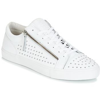 Cipők Férfi Rövid szárú edzőcipők Jim Rickey ZED STUDS Fehér / Ezüst