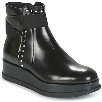 Cipők Női Csizmák Tosca Blu CIVETTA ABRASIVATO Fekete