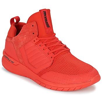 Cipők Férfi Rövid szárú edzőcipők Supra METHOD Piros