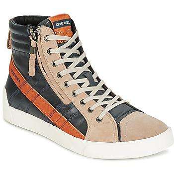 Shoes Férfi Magas szárú edzőcipők Diesel D-STRING PLUS Antracit / Teve