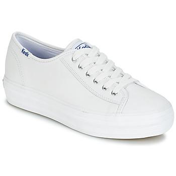 Cipők Női Rövid szárú edzőcipők Keds TRIPLE KICK CORE LEATHER Fehér